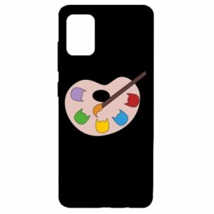 Etui na Samsung A51 Color palette with cats