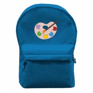 Plecak z przednią kieszenią Color palette with cats