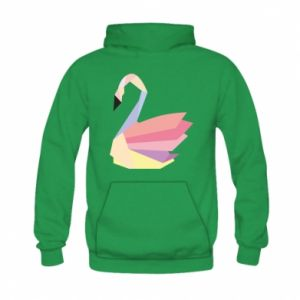Bluza z kapturem dziecięca Color swan abstraction