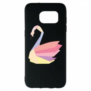 Etui na Samsung S7 EDGE Color swan abstraction