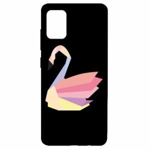 Etui na Samsung A51 Color swan abstraction