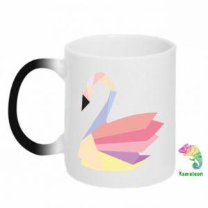 Kubek-kameleon Color swan abstraction