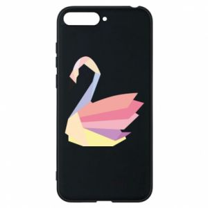 Etui na Huawei Y6 2018 Color swan abstraction