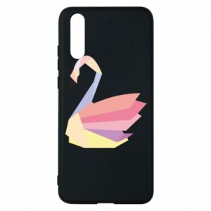 Etui na Huawei P20 Color swan abstraction