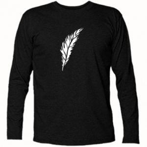 Long Sleeve T-shirt Colored feather - PrintSalon