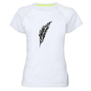 Koszulka sportowa damska Colored feather