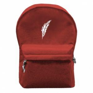 Plecak z przednią kieszenią Colored feather