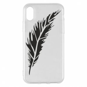 Etui na iPhone X/Xs Colored feather