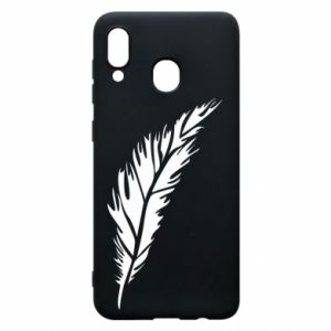 Etui na Samsung A20 Colored feather