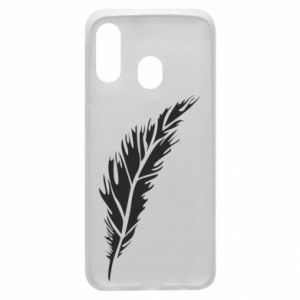 Etui na Samsung A40 Colored feather
