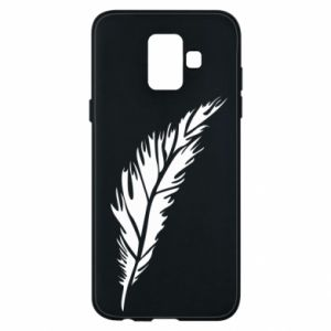 Etui na Samsung A6 2018 Colored feather