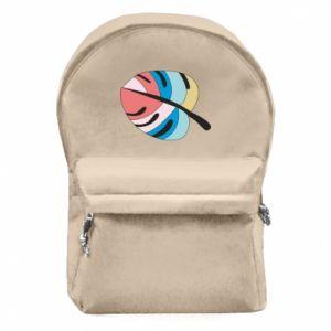 Backpack with front pocket Colorful big leaf