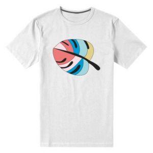 Men's premium t-shirt Colorful big leaf