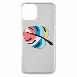 Phone case for iPhone 11 Colorful big leaf