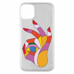Etui na iPhone 11 Pro Colorful hand with eye