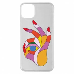 Etui na iPhone 11 Pro Max Colorful hand with eye