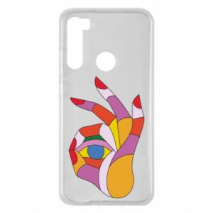 Etui na Xiaomi Redmi Note 8 Colorful hand with eye