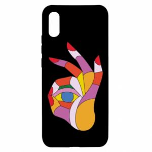 Etui na Xiaomi Redmi 9a Colorful hand with eye