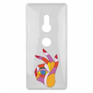 Etui na Sony Xperia XZ2 Colorful hand with eye