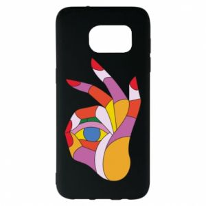 Etui na Samsung S7 EDGE Colorful hand with eye