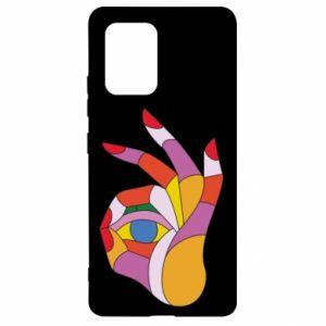 Etui na Samsung S10 Lite Colorful hand with eye
