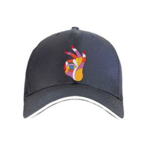 Cap Colorful hand with eye - PrintSalon