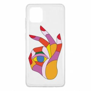 Etui na Samsung Note 10 Lite Colorful hand with eye