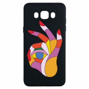 Etui na Samsung J7 2016 Colorful hand with eye