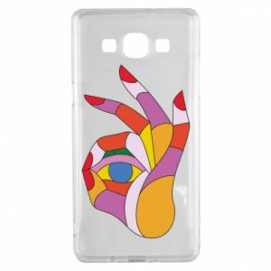 Etui na Samsung A5 2015 Colorful hand with eye