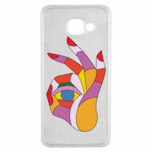 Etui na Samsung A3 2016 Colorful hand with eye