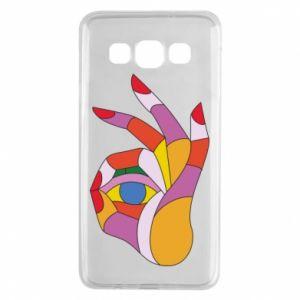 Etui na Samsung A3 2015 Colorful hand with eye