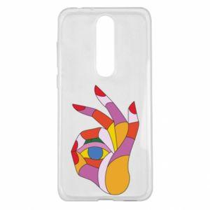 Etui na Nokia 5.1 Plus Colorful hand with eye