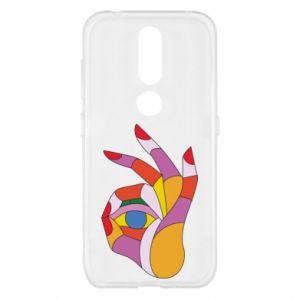 Etui na Nokia 4.2 Colorful hand with eye
