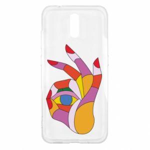 Etui na Nokia 2.3 Colorful hand with eye
