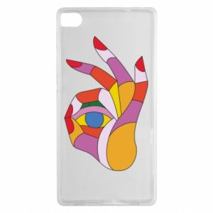 Etui na Huawei P8 Colorful hand with eye