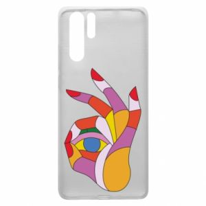 Etui na Huawei P30 Pro Colorful hand with eye