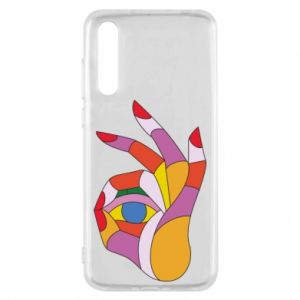Etui na Huawei P20 Pro Colorful hand with eye