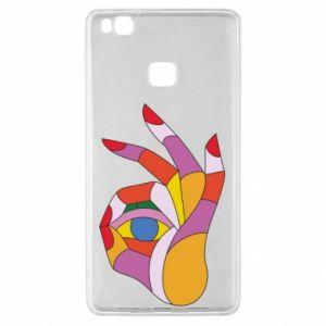 Etui na Huawei P9 Lite Colorful hand with eye