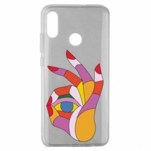Etui na Huawei Honor 10 Lite Colorful hand with eye