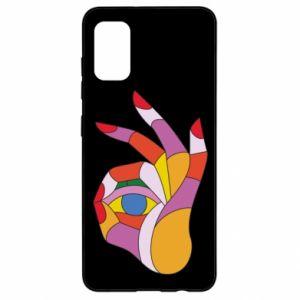 Etui na Samsung A41 Colorful hand with eye