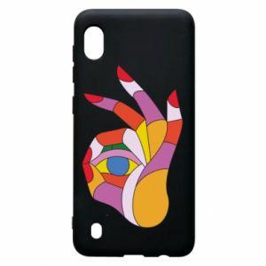 Etui na Samsung A10 Colorful hand with eye
