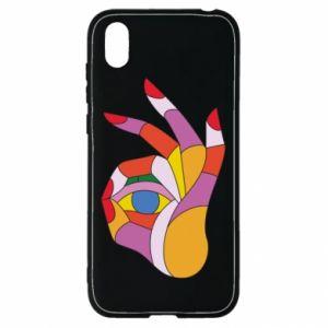 Etui na Huawei Y5 2019 Colorful hand with eye