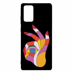 Etui na Samsung Note 20 Colorful hand with eye