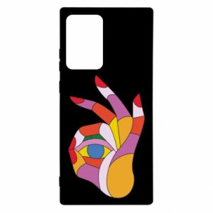Etui na Samsung Note 20 Ultra Colorful hand with eye