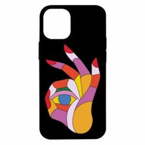 Etui na iPhone 12 Mini Colorful hand with eye