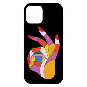 Etui na iPhone 12/12 Pro Colorful hand with eye