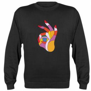 Bluza (raglan) Colorful hand with eye