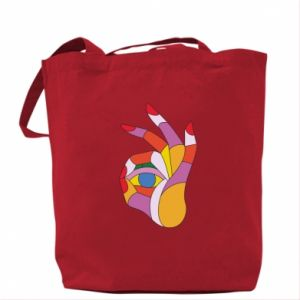 Torba Colorful hand with eye