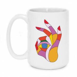 Kubek 450ml Colorful hand with eye