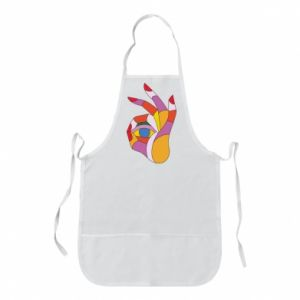 Apron Colorful hand with eye